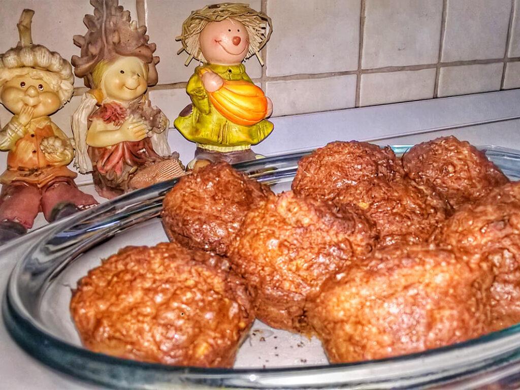 Proteines, almás, fahéjas muffin